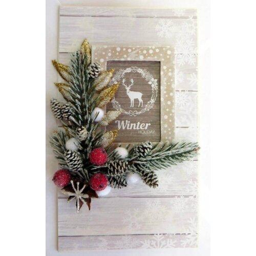 Новорічна листівка ручної роботи Winter