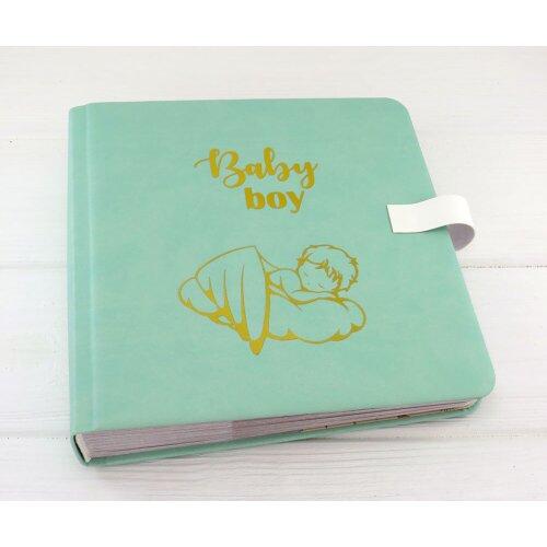 Шкіряний альбом для фотографій хлопчика Немовлятко