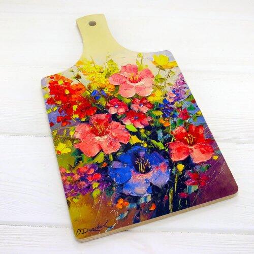 Обробна дошка Flowers 18х32см