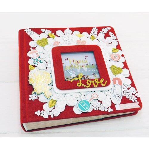 Фотоальбом для дівчинки ручної роботи Квіткова поляна