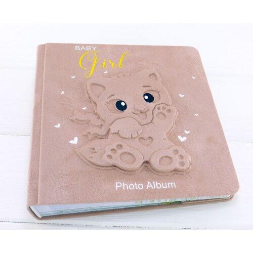 Іменний фотоальбом для дівчинки Киця