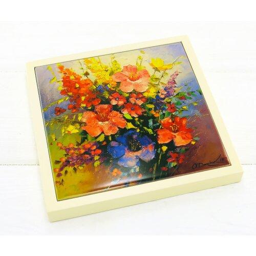 Керамічна підставка під гаряче Flowers 17х17см