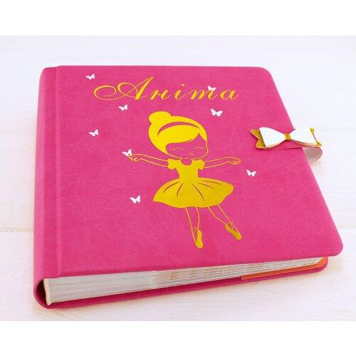 Іменний фотоальбом для новонародженої дівчинки Балерина