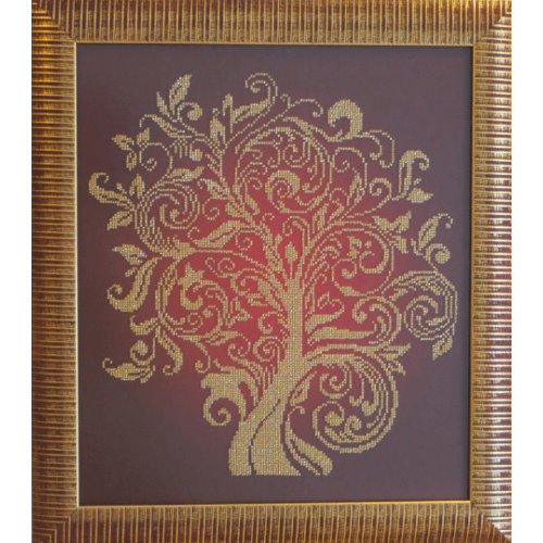 Вишита картина з бісеру Дерево достатку